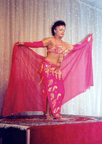 dancer in rich pink