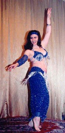 dancer in blue hip lift