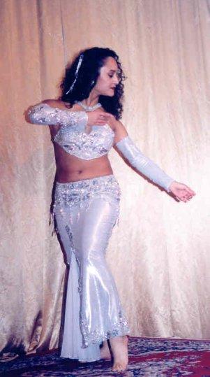 dancer in white-silver