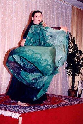 dancer with green veil