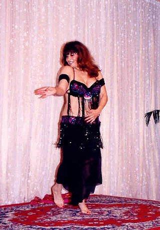 dancer in black with deep purple