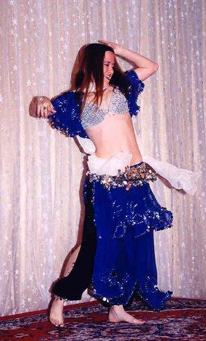 dancer in royal blue