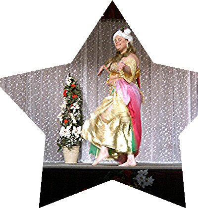 dancer wearing a christmas hat
