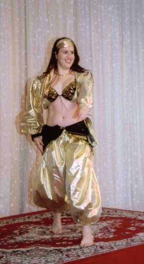 dancer in gold lame