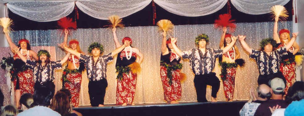 Na Hoku Lani performs in traditional costuming